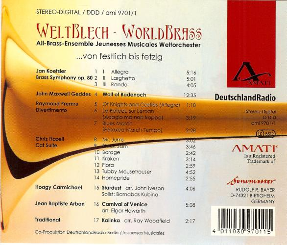 Weltblech-Worldbrass - Backcover