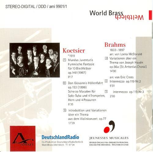 Brahms und Koetsier - Backcover